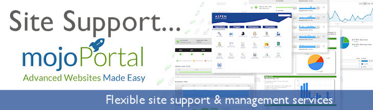 mojoPortal Site Support and Management