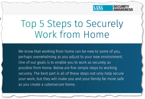 SAN Institute Working From Home Fact Sheet